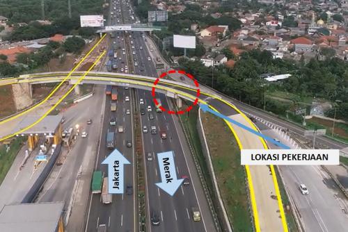 Ada Pekerjaan Pembongkaran Pedestal Proyek Tol Kunciran – Cengkareng di Ruas Jakarta-Tangerang