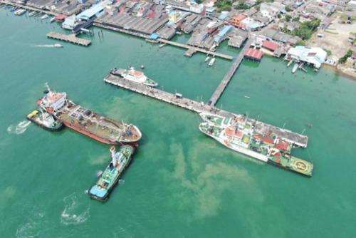 Aksi SAR Kapal Patroli PLP Tanjung Uban Berhasil Evakuasi Kapal Berbendera Mongolia