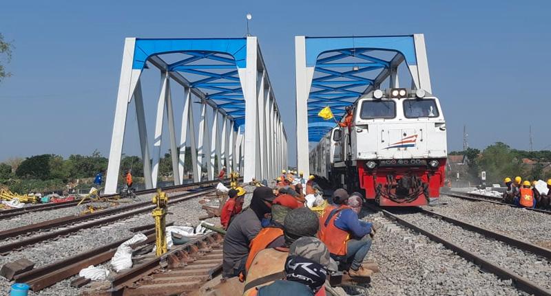 Jalur Ganda Ka Madiun - Jombang Beroperasi