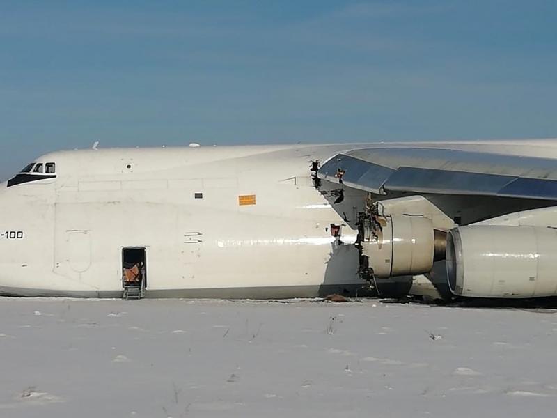 Pesawat Kargo Antonov An-124 Mendarat Darurat Tak Terkendali