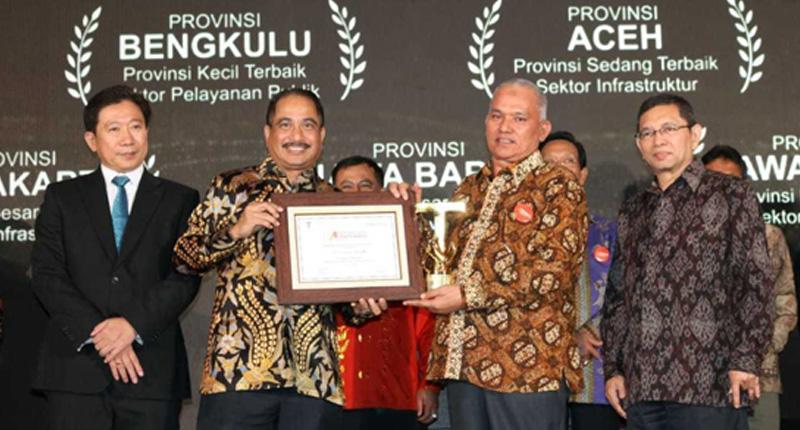 Provinsi Aceh Raih Penghargaan Attractiveness Award 2019