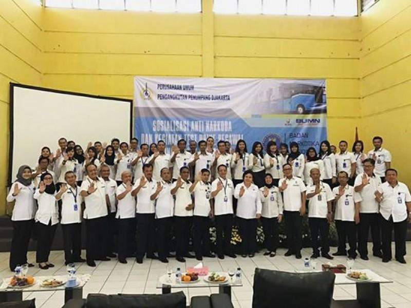 Sosialisasi Anti Narkoba Karyawan Perum PPD oleh BNN