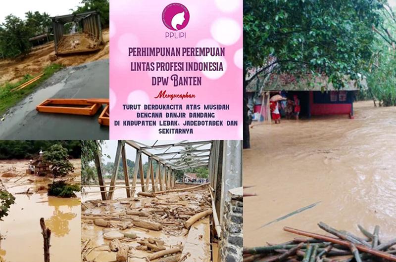 Transportasi Indonesia dan PPLIPI Peduli Banjir di Banten