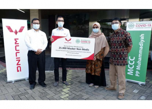 Wuling Berikan Bantuan Kepada Muhammadiyah Covid-19 Command Center